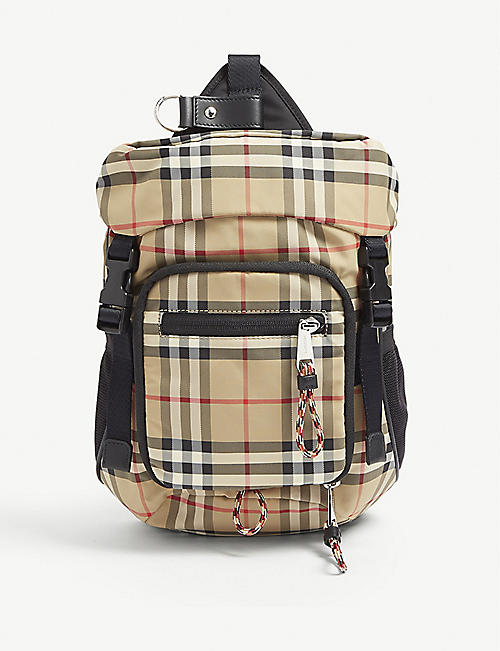 e628b0a1dee7 BURBERRY Vintage check cross-body backpack. Quick view Wish list