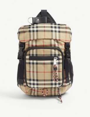 BURBERRY Vintage check cross-body backpack