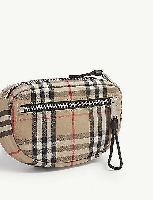 BURBERRY Cannon checked cotton belt bag