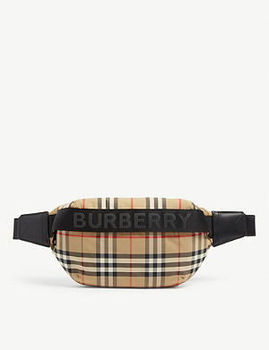 BURBERRY Sonny Vintage check nylon and leather belt bag