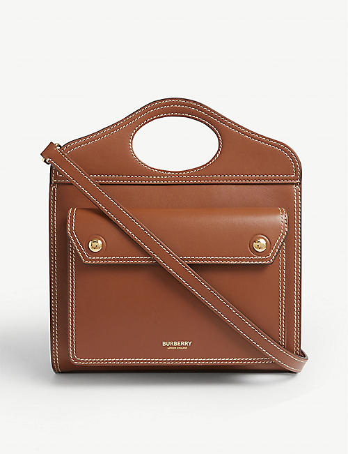 c40ee859897a BURBERRY Leather shopper bag