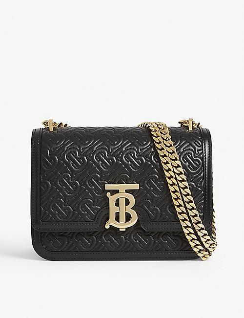 15f219095cf46 BURBERRY Monogram-print leather shoulder bag