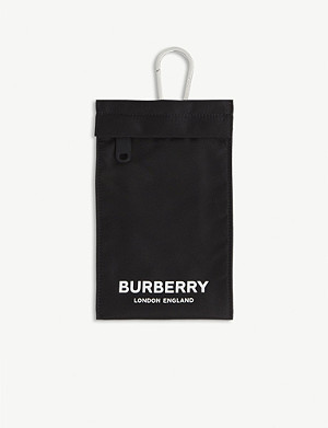 BURBERRY Rae logo lanyard pouch