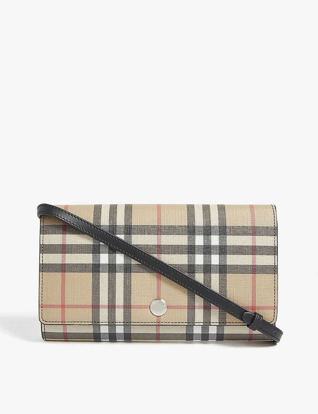 BURBERRY: Hannah checked e-canvas wallet