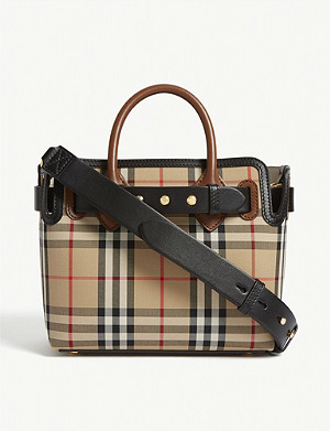BURBERRY Belt mini cotton and leather tote bag