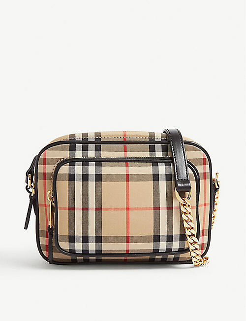 2ec0d3d59213 BURBERRY Vintage check cotton camera bag