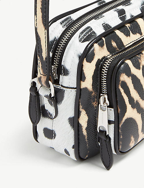 BURBERRY Animal print shoulder bag