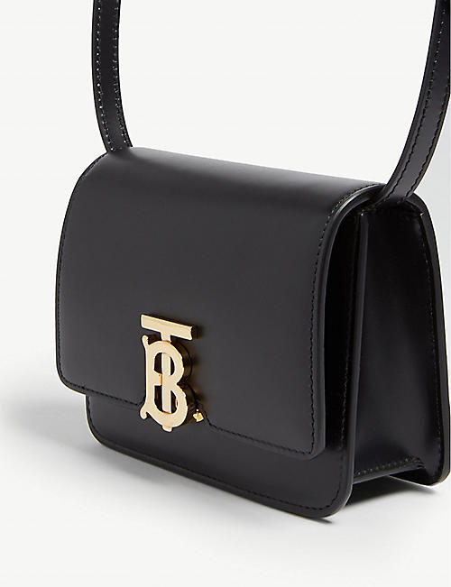21b2bcf58 BURBERRY Logo leather mini shoulder bag