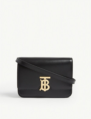 BURBERRY Logo leather mini shoulder bag