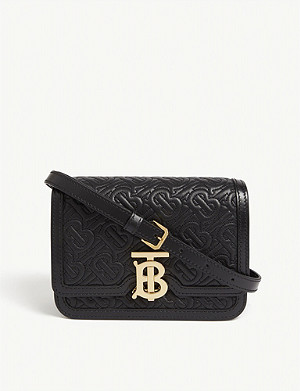 BURBERRY TB quilted leather shoulder bag