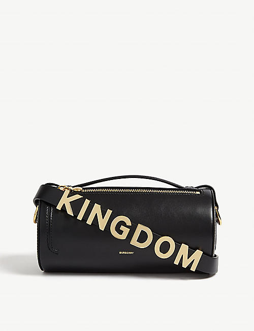 541c35a77a BURBERRY The Kingdom leather barrel cross-body bag