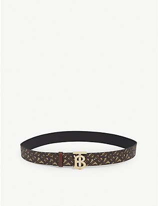 BURBERRY: Monogram e-canvas belt
