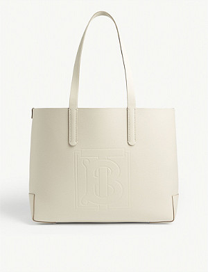 BURBERRY EW embossed leather tote