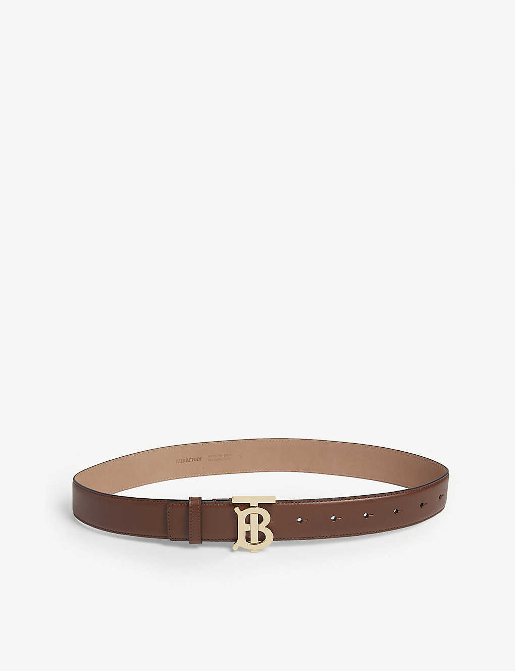 BURBERRY: Monogram Motif reversible leather belt