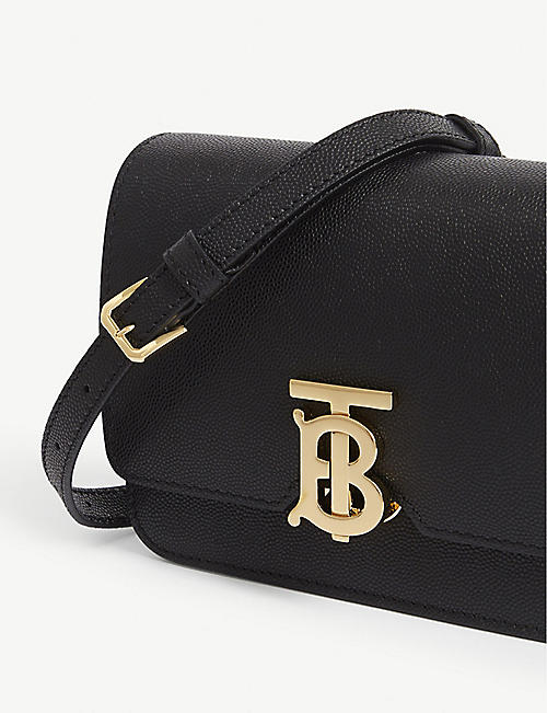 BURBERRY Mini TB leather cross-body bag