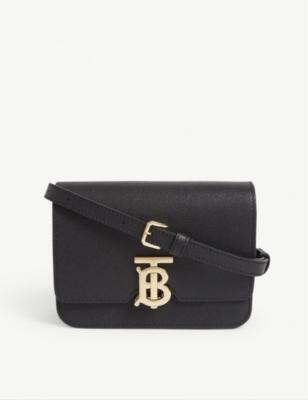 Mini Tb Leather Cross Body Bag by Burberry