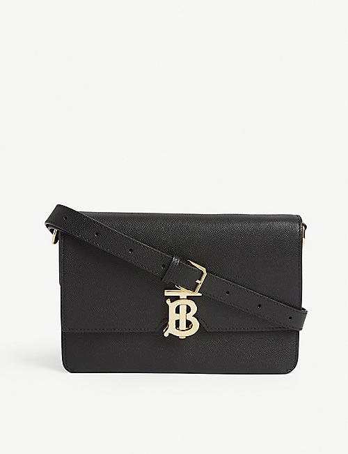 BURBERRY TB logo leather cross-body bag