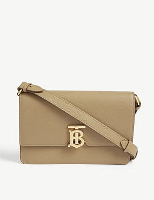 BURBERRY TB moniker leather cross-body bag