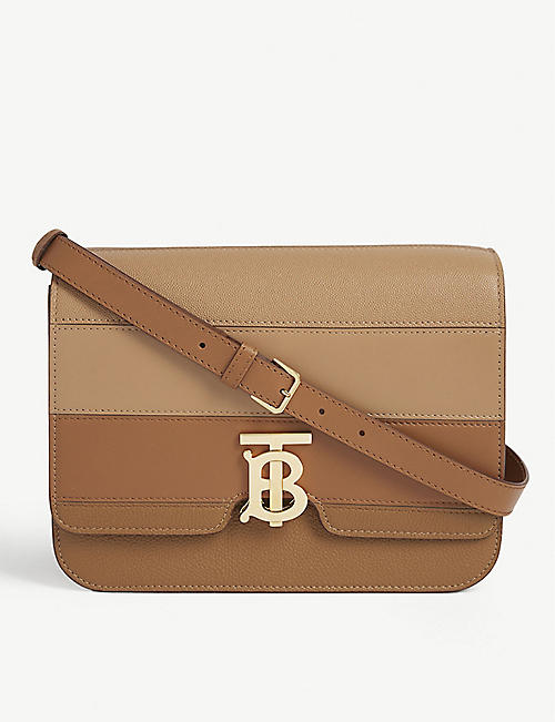 BURBERRY Logo-plaque leather cross-body bag