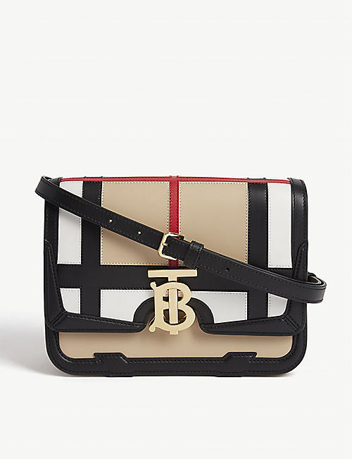 BURBERRY Monogram small leather shoulder bag