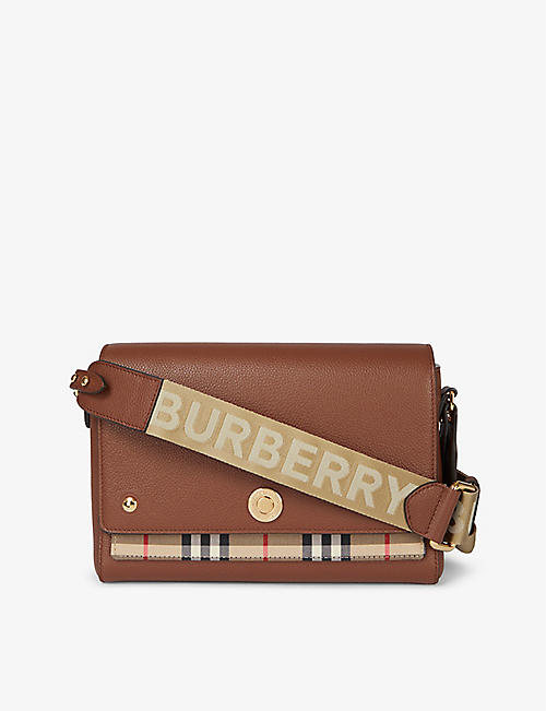 BURBERRY: Hackberry leather cross-body bag