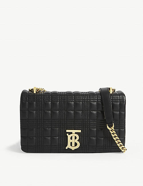 BURBERRY: Lola small leather shoulder bag
