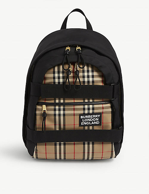 BURBERRY: Cooper medium canvas rucksack