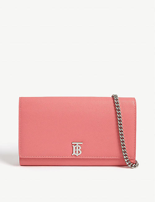 BURBERRY: Hannah TB leather wallet-on-chain