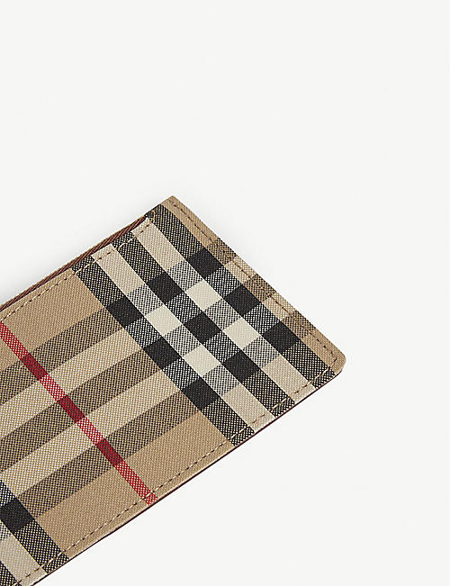 BURBERRY Somerset check card holder