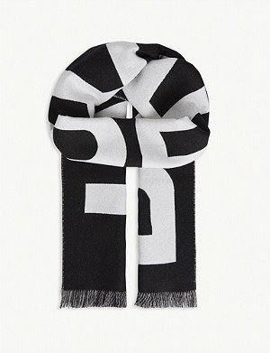 BURBERRY Wool football scarf