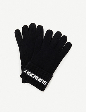BURBERRY Kingdom logo cashmere gloves