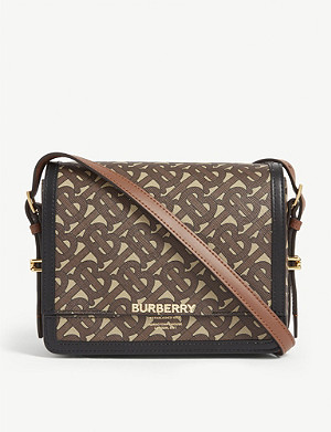 BURBERRY Grace small logo e-canvas shoulder bag