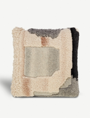 TOM DIXON Abstract Natural linen-blend cushion 45x45cm