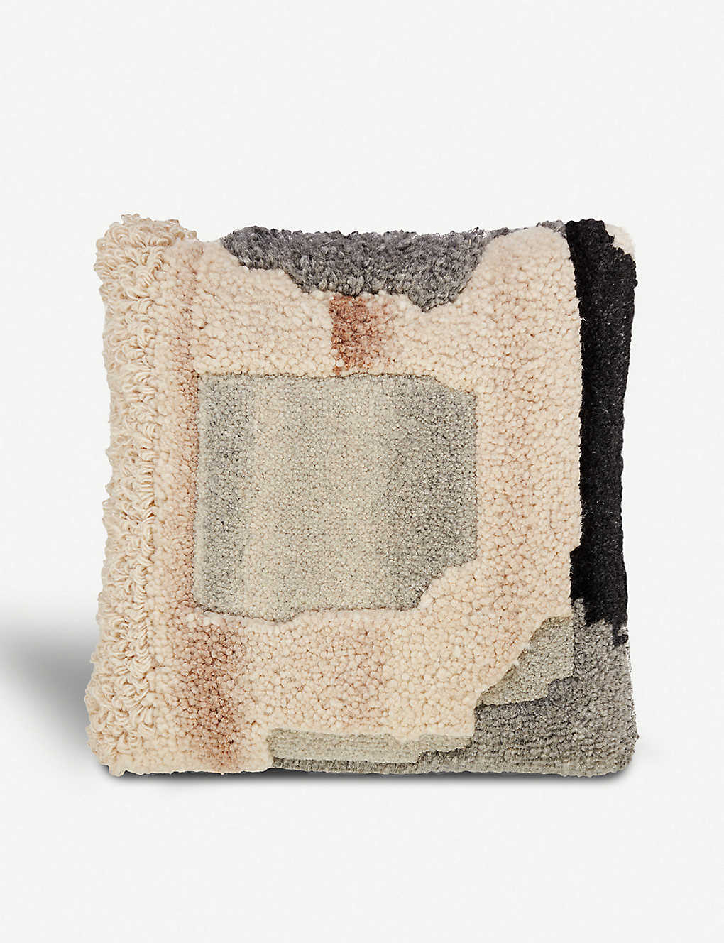TOM DIXON: Abstract Natural linen-blend cushion 45x45cm