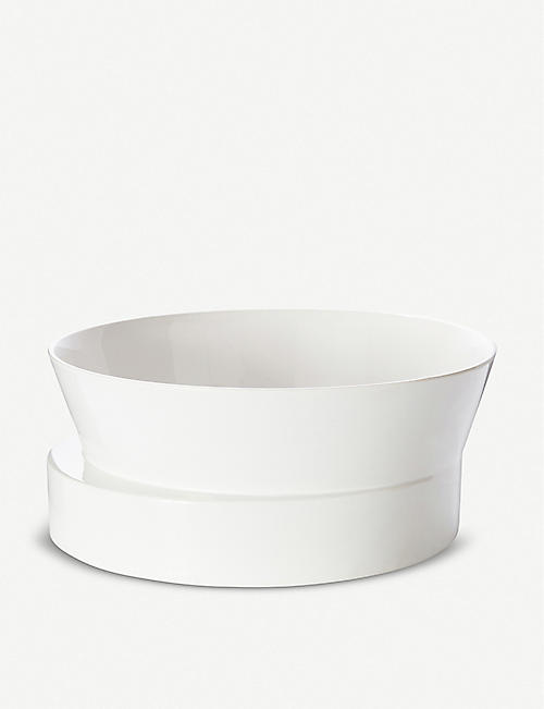 TOM DIXON Block asymmetric ceramic bowl 30cm