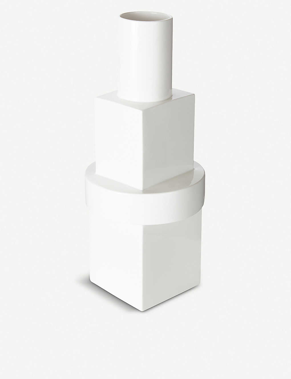 TOM DIXON: Block geometric ceramic vase