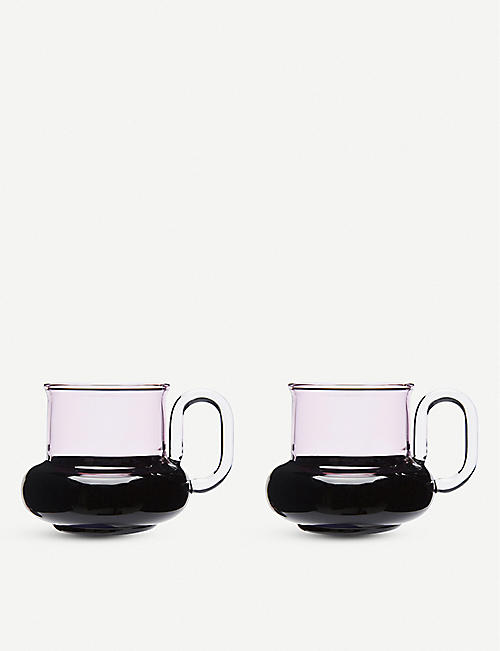 TOM DIXON: Bump glass tea cups set of two