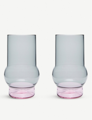 TOM DIXON Bump tall glasses set of two