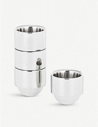 TOM DIXON: Brew stainless steel espresso cups set of four