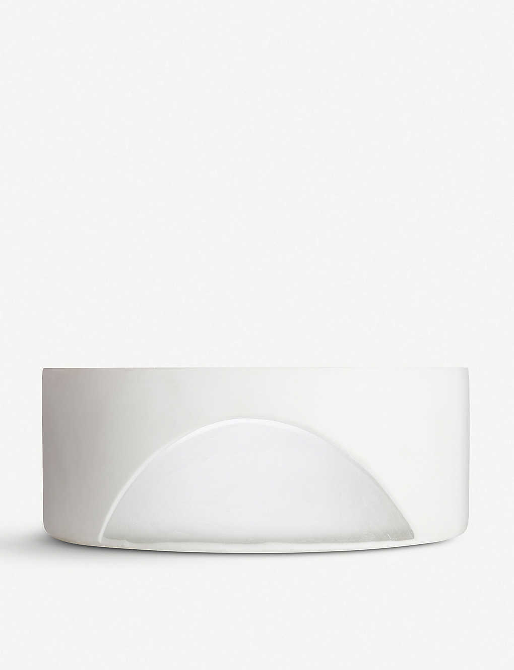TOM DIXON: Carved glass bowl 28cm