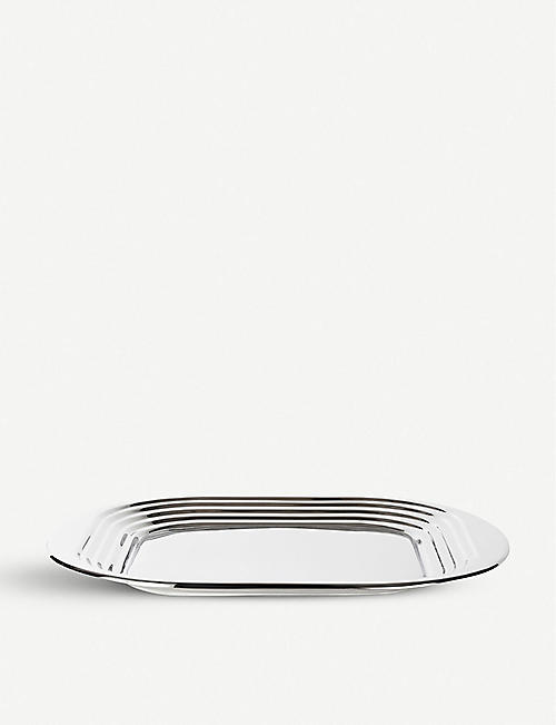 TOM DIXON: Form mirrored stainless steel tray 49cm x 44cm