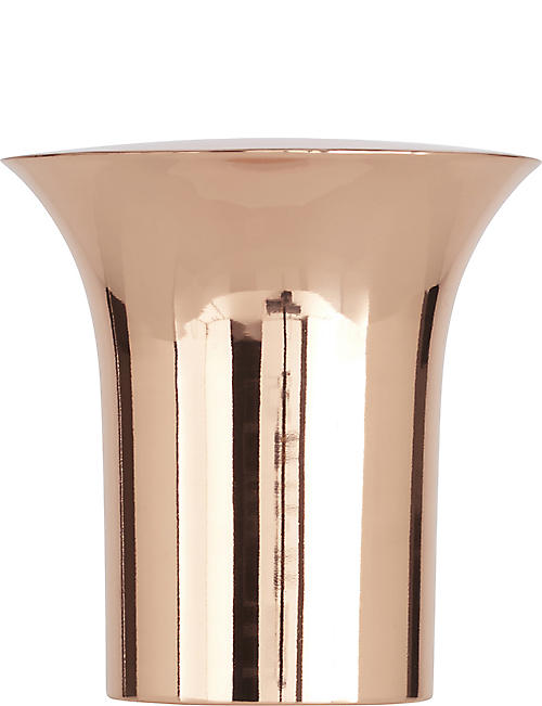 TOM DIXON: Plum copper plate wine cooler