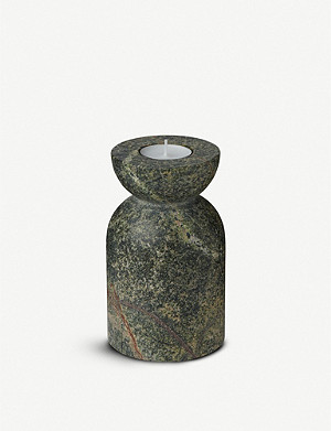 TOM DIXON Rock marble candle holder set of two 36cm