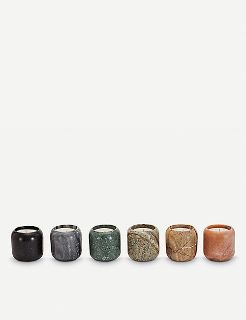 05007b8864a3 TOM DIXON Materialism Stone scented candle gift set of six