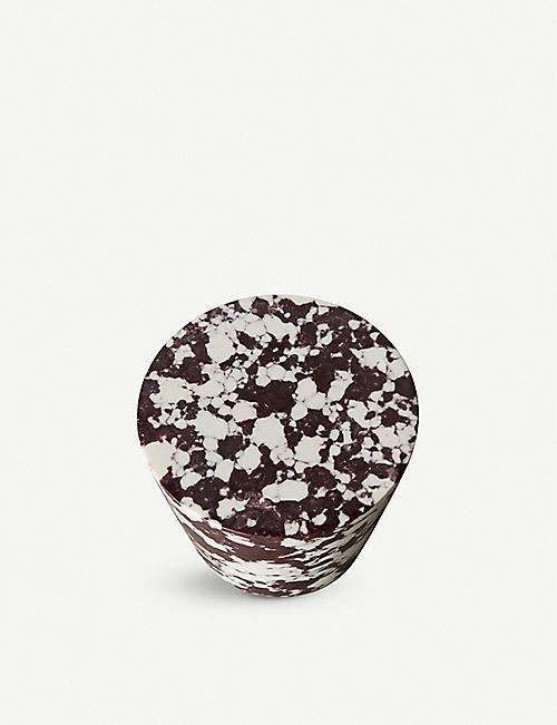 TOM DIXON: Swirl marble and resin cone hook 6cm