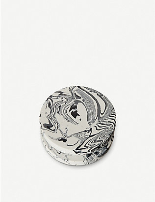 TOM DIXON: Swirl marble and resin dumbbell hook 12cm