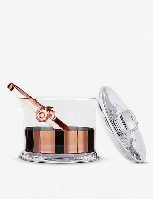 TOM DIXON Tank copper ice bucket with tongs