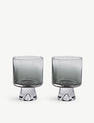 TOM DIXON: Tank low-ball glasses set of two
