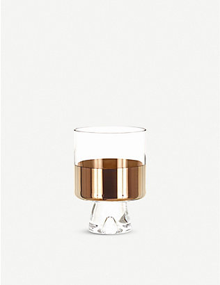 TOM DIXON: Tank bronze and glass tumblers set of two