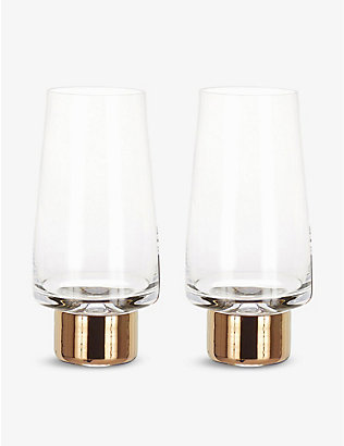 TOM DIXON: Tank high ball pair of tow glasses